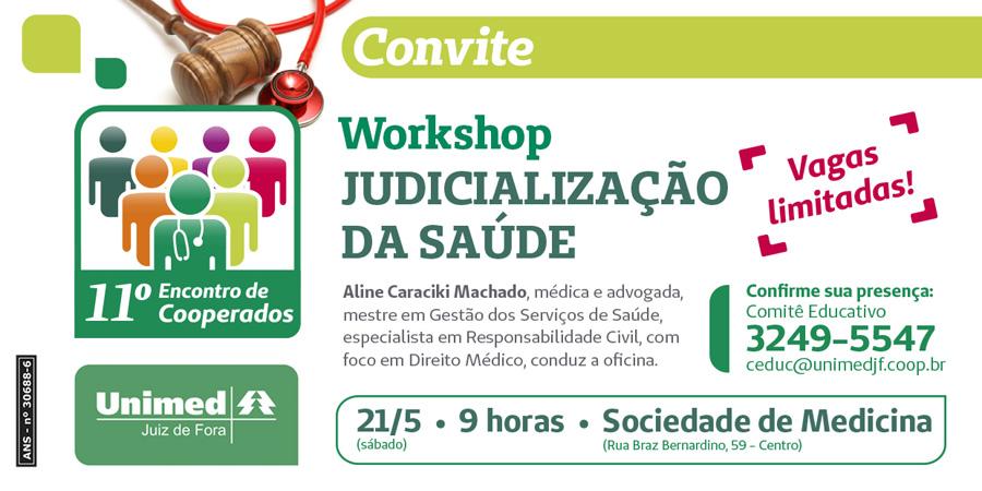Cooperados da Unimed debatem judicialização da saúde no Vianna Jr
