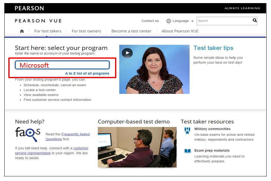 Certificação Microsoft Pearson Vue Vianna Jr passo 1