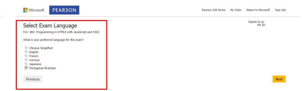 Certificação Microsoft Pearson Vue Vianna Jr passo 7