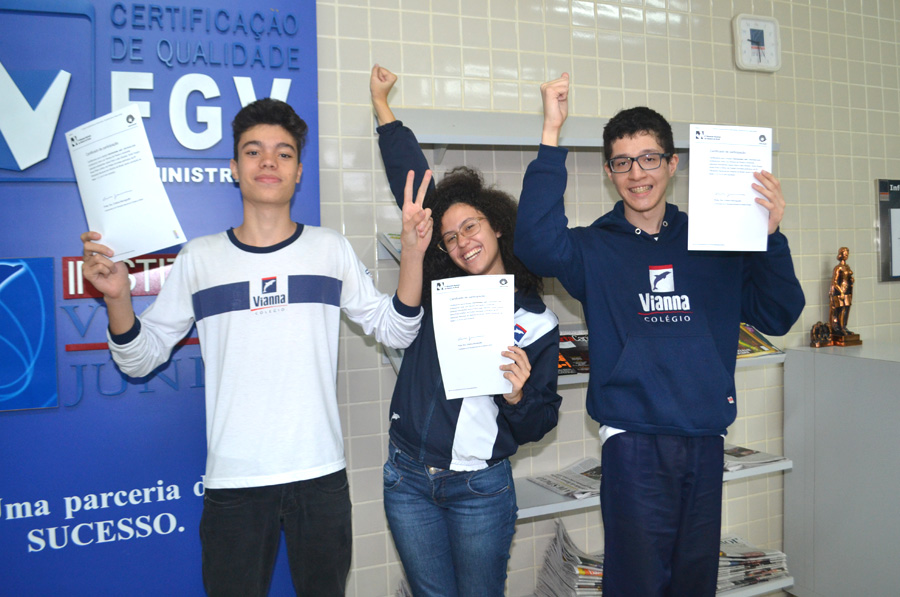 Colégio Vianna Júnior na Olimpíada Nacional de História do Brasil