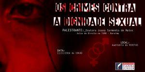 """Veritas promove palestra sobre """"Os Crimes contra a Dignidade Sexual"""""""