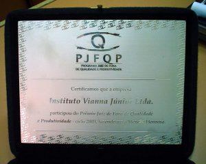 PJFQP 2003 certificado
