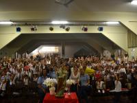 Alunos e professores participaram da homenagem a São José