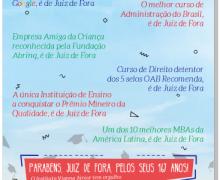 Instituto Vianna Júnior parabeniza Juiz de Fora pelos 167 anos